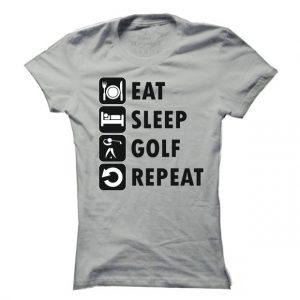 Dámské golfové tričko Eat sleep - golf