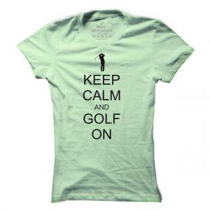 Dámské golfové tričko Keep calm - golf