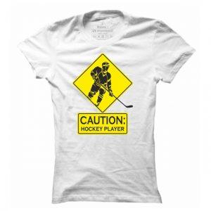 Dámské hokejové tričko Caution Hockey Player
