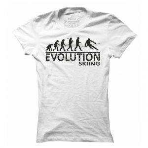 Dámské lyžařské tričko Lyže evoluce