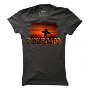 Dámské snowboardové tričko Snowboard Sunset