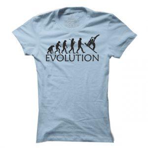 Dámské snowboardové tričko Snowboard evoluce