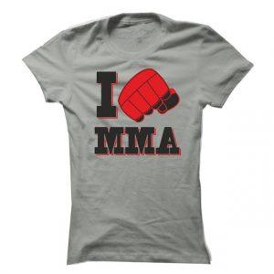 Dámské tričko I love mma