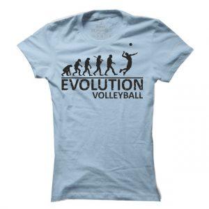 Dámské tričko Volleyball evoluce