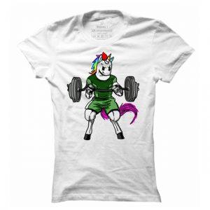 Dámské tričko na fitness Lifting Unicorn