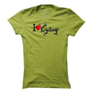 Dámské tričko na kolo I Love Cycling