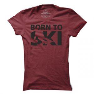 Dámské tričko na lyže Born to Ski