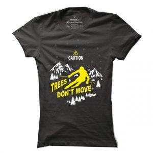 Dámské tričko na lyže Trees don´t move