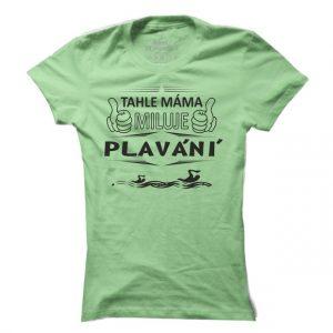Dámské tričko na plavání Plavecká máma