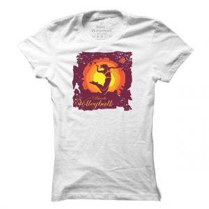 Dámské tričko na volejbal Beach Volleyball Silhouette