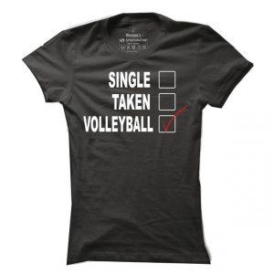 Dámské volejbalové tričko Single taken volleyball
