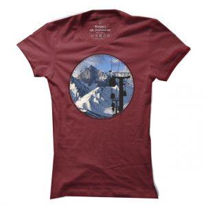 Lyžařské tričko Mountains pro ženy