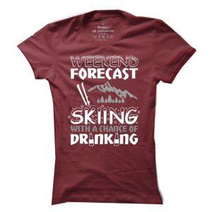 Lyžařské tričko Skiing forecast pro ženy