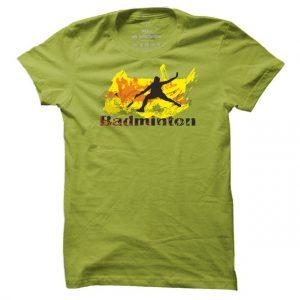 Pánské badmintonové tričko Badminton Abstract