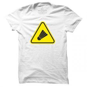 Pánské badmintonové tričko Badminton Caution