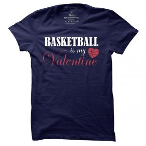 Pánské basketbalové tričko Basketball is my Valentine