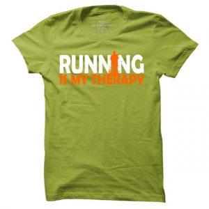 Pánské běžecké tričko Running is my therapy