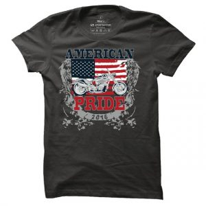 Pánské bikerské tričko American pride