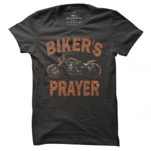 Pánské bikerské tričko Bikers prayer