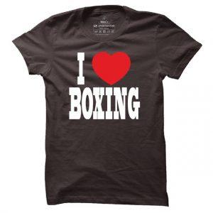Pánské boxerské tričko I love boxing