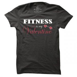 Pánské fitness tričko Fitness is my Valentine