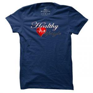 Pánské fitness tričko Healthy Lifestyle