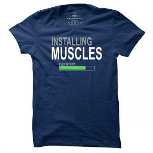 Pánské fitness tričko Installing Muscles