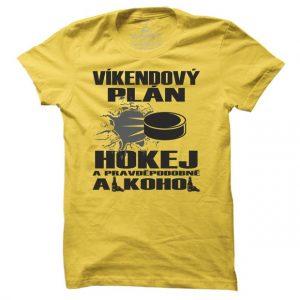 Pánské hokejové tričko Víkendový plán hokej
