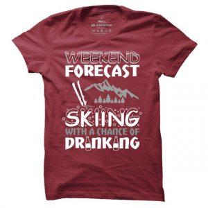 Pánské lyžařské tričko Skiing forecast