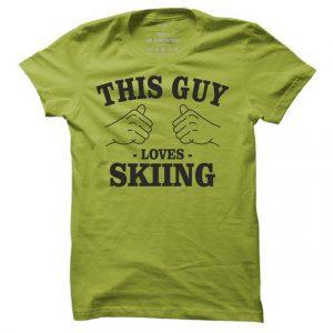 Pánské lyžařské tričko This guy loves Skiing