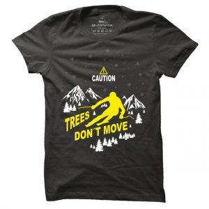 Pánské lyžařské tričko Trees don´t move
