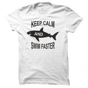 Pánské plavecké tričko Keep calm and swim faster