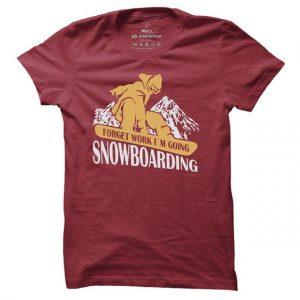 Pánské snowboardové tričko Im going snowboarding