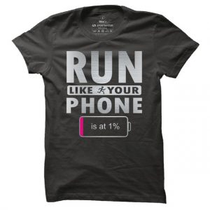 Pánské tričko na běh Run like your phone