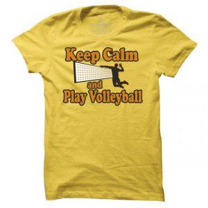 Pánské tričko na volejbal Keep calm
