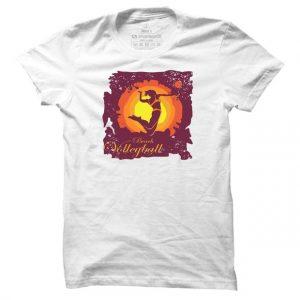 Pánské volejbalové tričko Beach Volleyball Silhouette