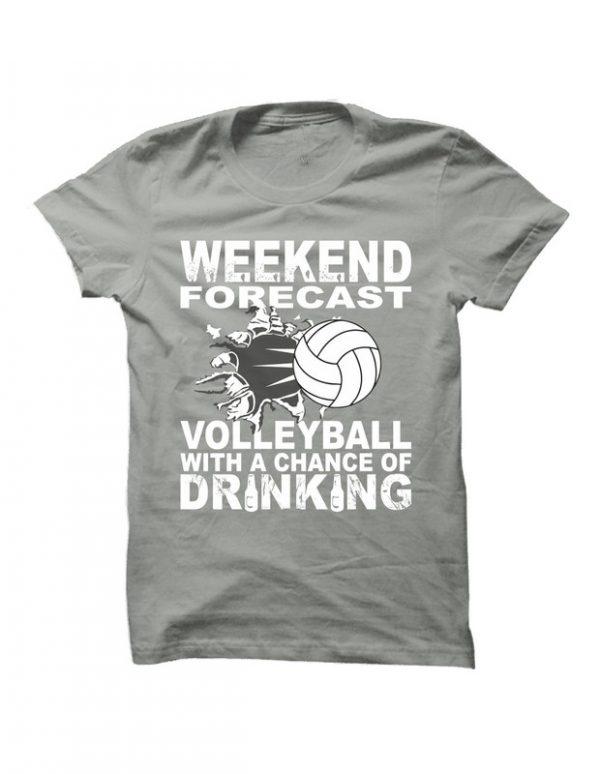 Volejbalové tričko Weekend forecast pro muže