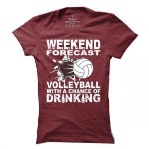 Volejbalové tričko Weekend forecast pro ženy
